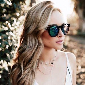 DIFF Dime Round Tortoise Gold Sunglasses